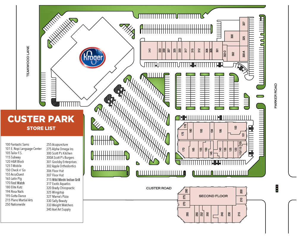 Custer Park Store Map